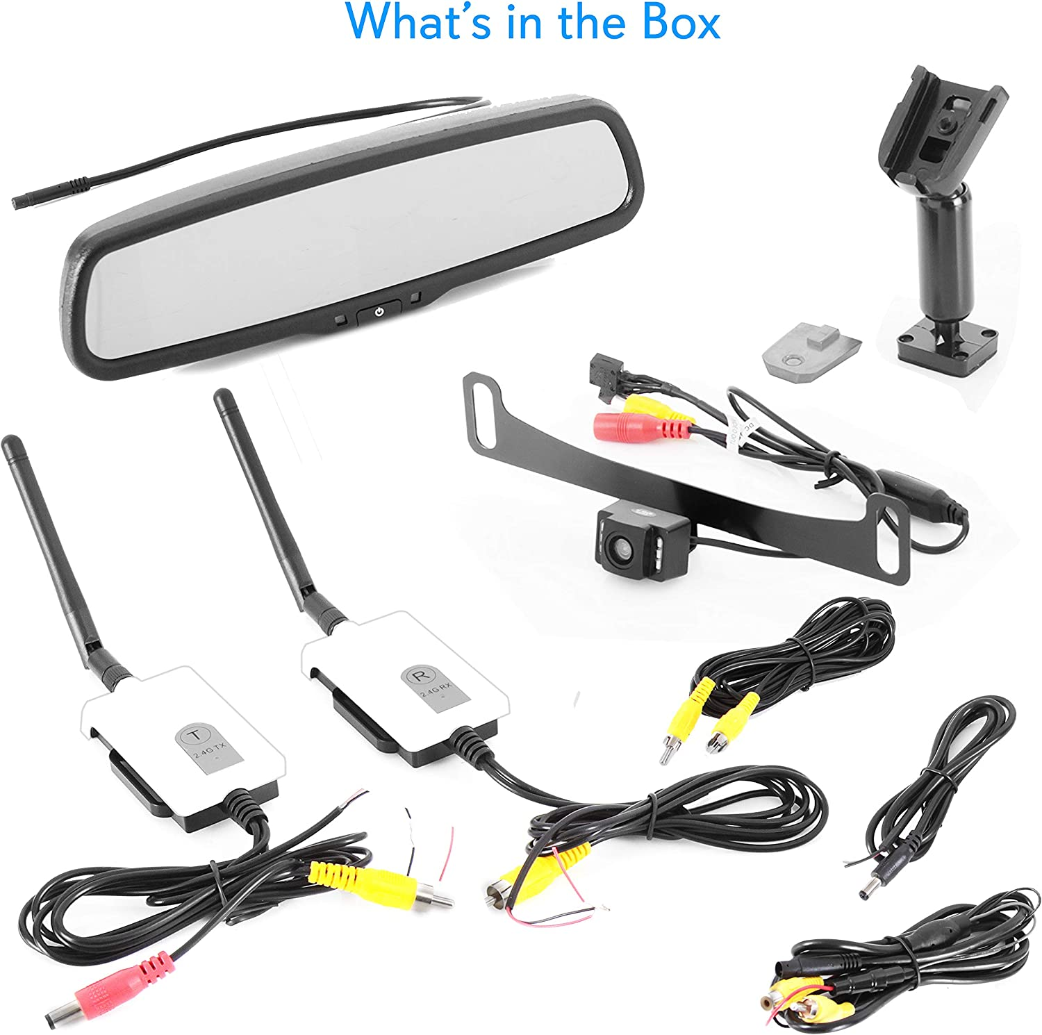 170/° Angle Adjustable OEM Fit Waterproof /& Night Vision Pyle Backup Car Camera Rear View Mirror Screen Monitor System with Parking /& Reverse Safety Distance Scale Lines PLCM4550 4.3 LCD Display-