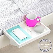BedShelfie The Original Bedside Shelf - 9 Colors / 4 Sizes - AS SEEN ON Business Insider (Original, Bamboo in White)