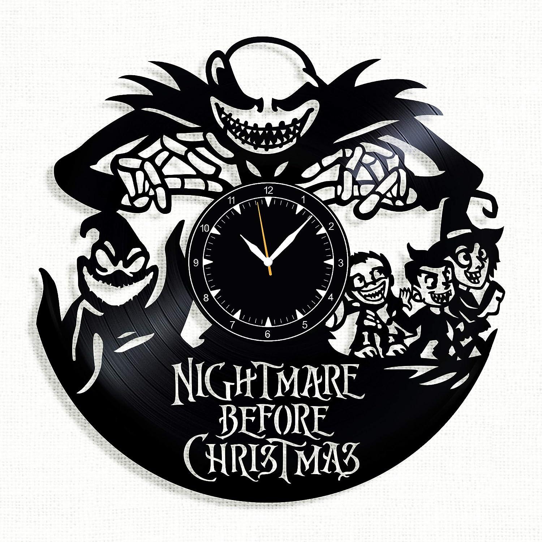 SofiClock Nightmare Before Christmas Vinyl Record Wall Clock 12, The ...
