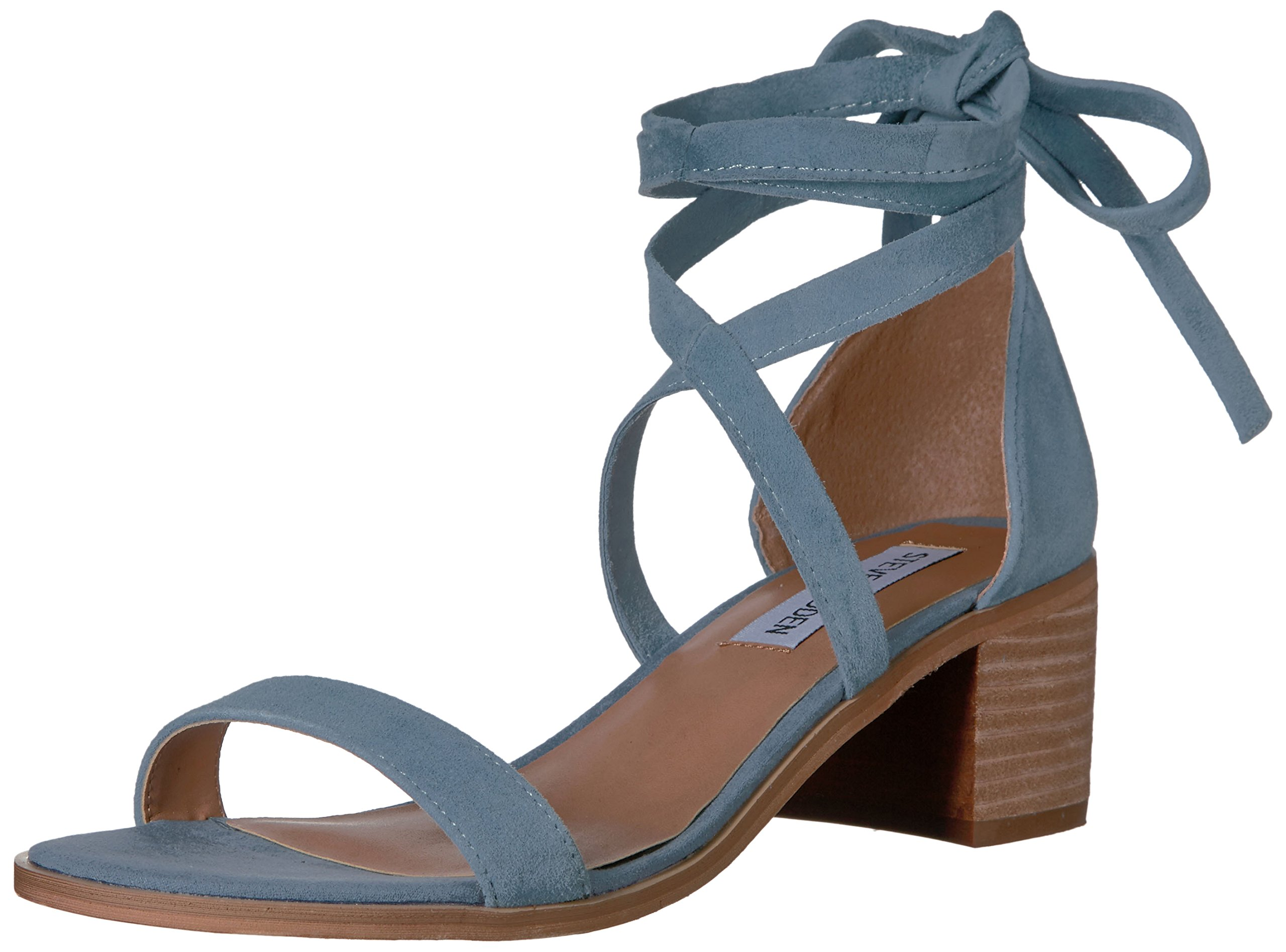 Steve Madden Women's Rizzaa Dress Sandal, Light Blue, 6.5 M US product image