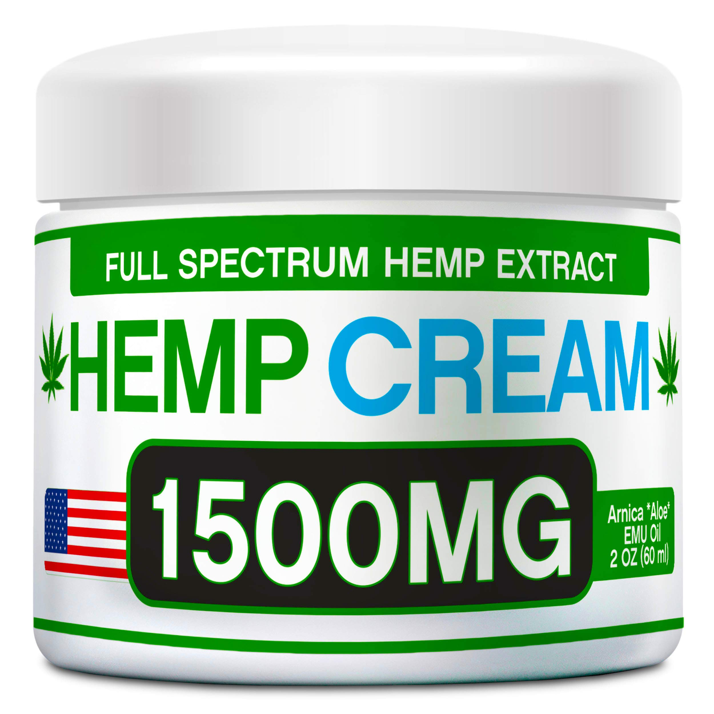 Organic Hemp Pain Relief Cream – 1500 Mg – Made in USA - Natural Hemp Extract Cream for Muscle, Inflammation, Joint, Back, Neck, Knee & Arthritis Pain with Arnica, Aloe, MSM & EMU Oil - GMO-Free