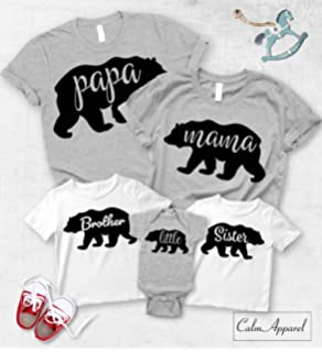 47f088cd44 Papa Bear Mama Bear Baby Bear Shirt, Christmas Matching Family Shirts,  Custom Family Matching