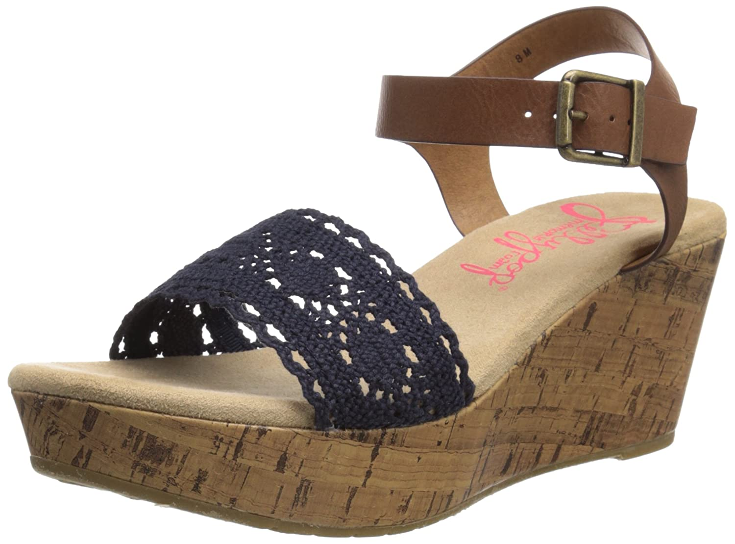 Jellypop Women's Shortcake Wedge Sandal B019707812 9.5 B(M) US|Navy