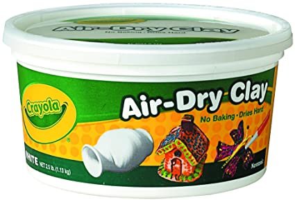 amazon com crayola air dry clay 2 5 lb bucket white toys games