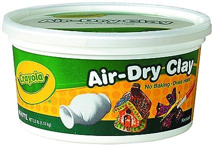 amazon com crayola air dry clay 2 5 lb bucket white toys games