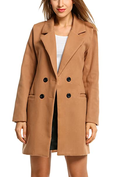 Veste Long Manteau Classique Blouson Hiver Unibelle Femme Col Bouton nvw7gqS1S