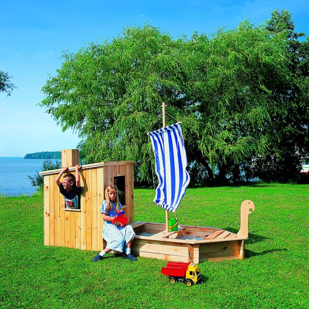 Sandkasten Störtebeker mit Kajüte Segel Schiff Boot Bausatz Sandkiste