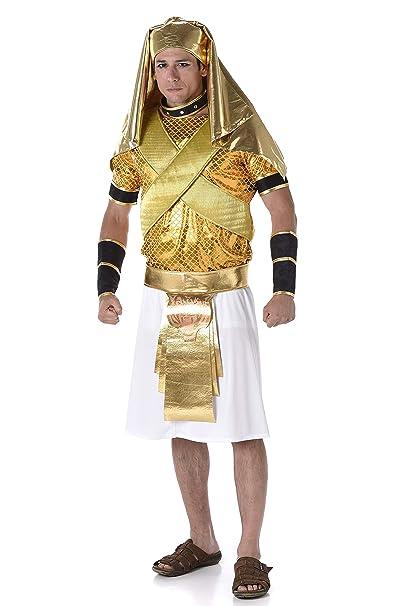 Amazon.com: Disfraz de rey egipcio de Ramses para hombre ...