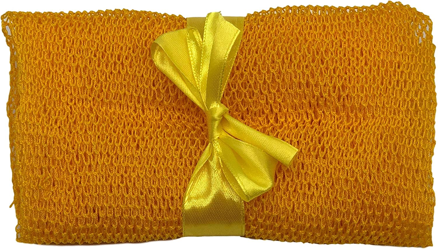 "Nature by EJN - Net Bath Sponge, Long, Skin Exfoliation, African, Porous (Yellow, 49"")"