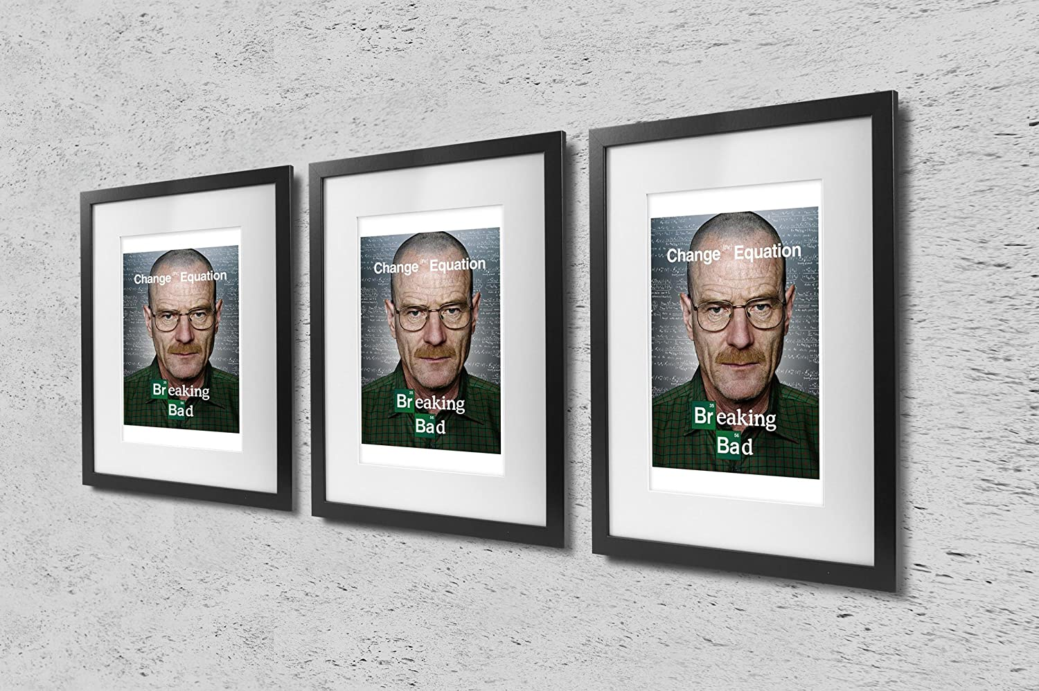Amazon breaking bad change the equation tv show art print amazon breaking bad change the equation tv show art print tv show memorabilia 11x17 poster vibrant color features bryan cranston anna gunn and jeuxipadfo Choice Image