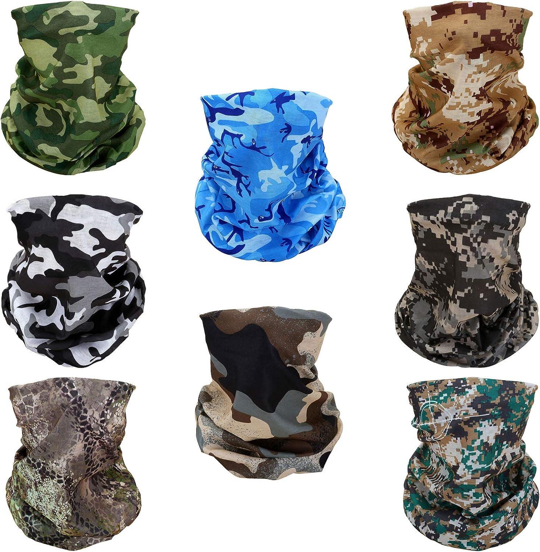 Pasamontañas elástico para llevar como pañuelo, máscara de media cara o fular con protección solar UV