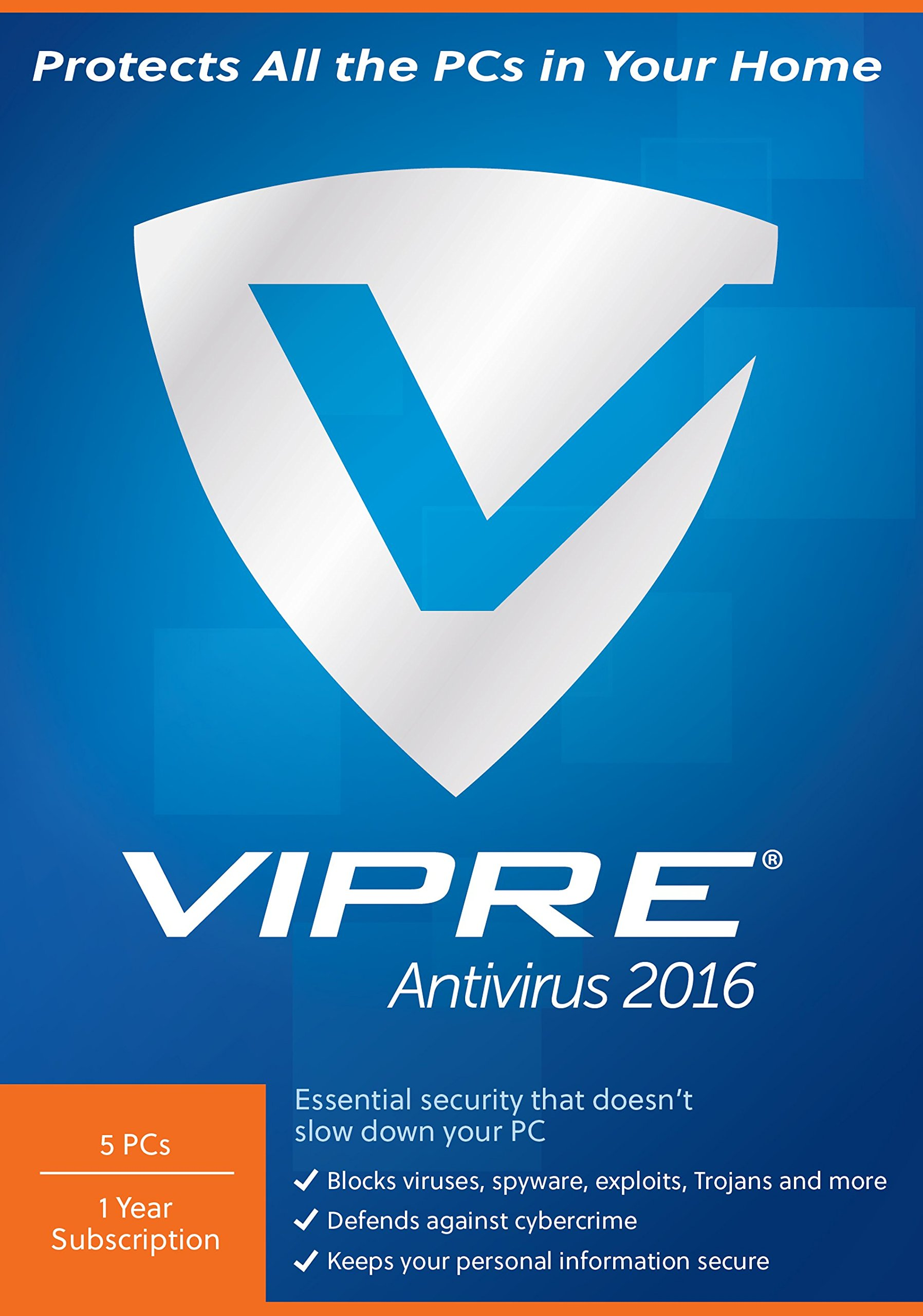 ThreatTrack Security VIPRE Antivirus 2016 (5-Users) by ThreatTrack Security