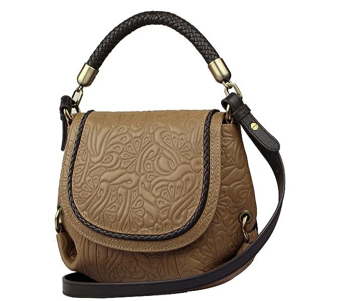 61ef6b7744fb SILVIO TOSSI Damen umhängetasche, braun, Einheitsgröße  Amazon.de  Schuhe    Handtaschen