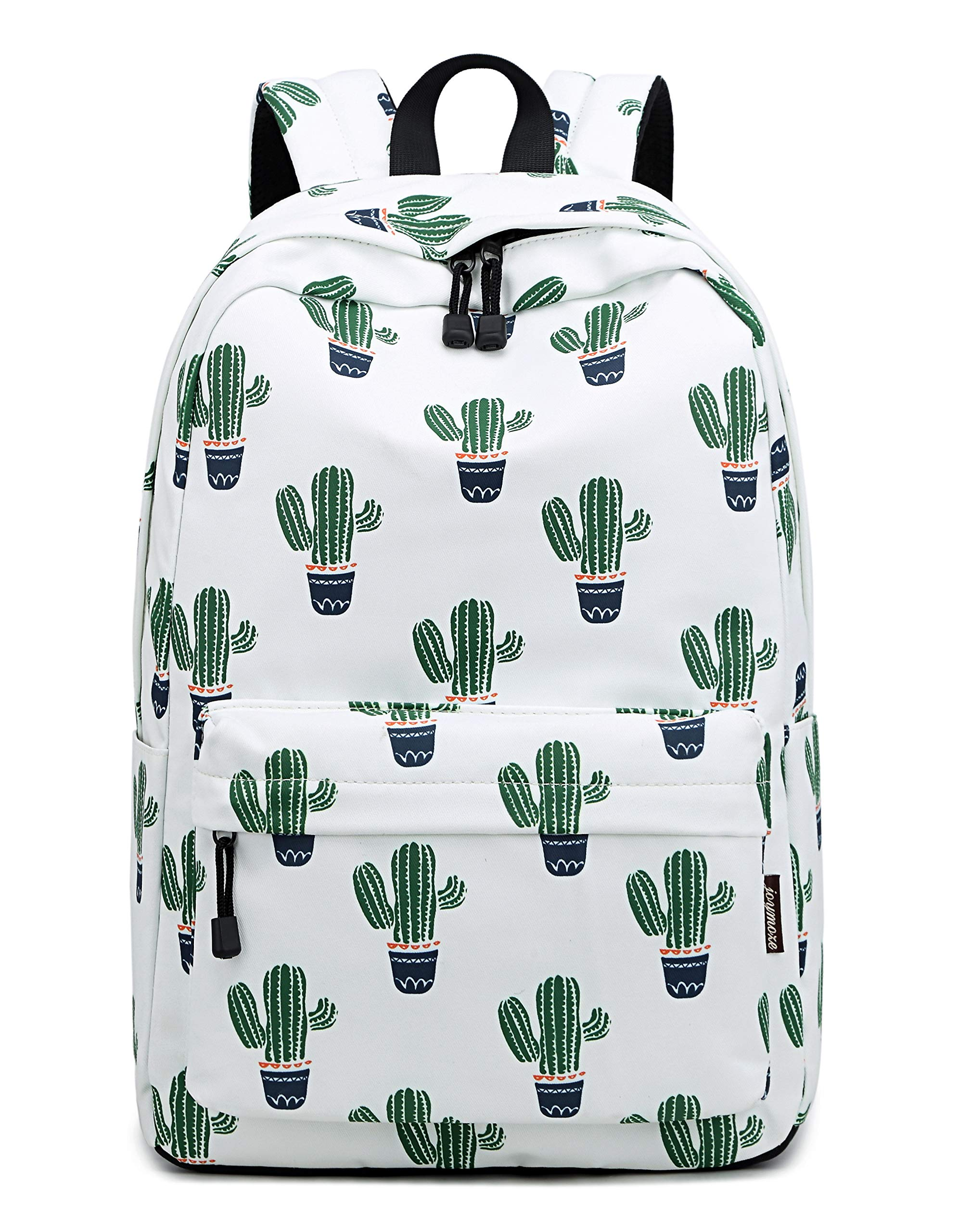 Teecho Girls Waterproof School Backpack Fashion 15.6'' Laptop Backpack for Teenager Green Cactus by Teecho