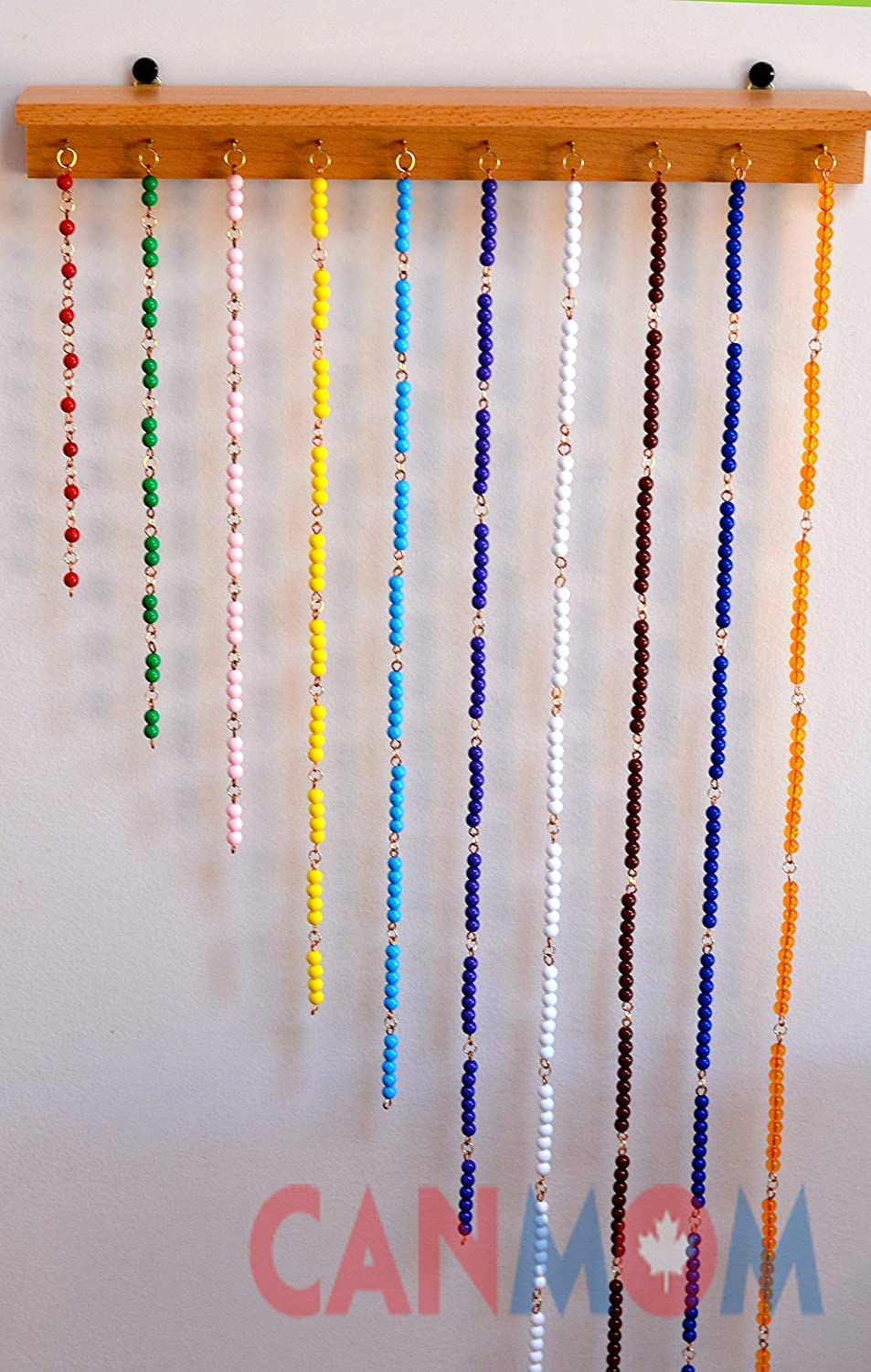 Montessori Multiplication bead chains / with hanger