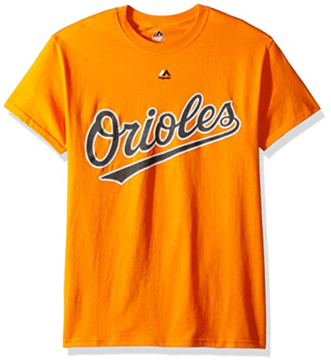 52f6cf055 Image Unavailable. Image not available for. Color  Majestic Baltimore  Orioles Orange Wordmark T-shirt ...