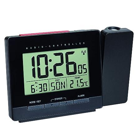 TFA Dostmann 60.5016.01 - Reloj Despertador con proyector y Fuente ...