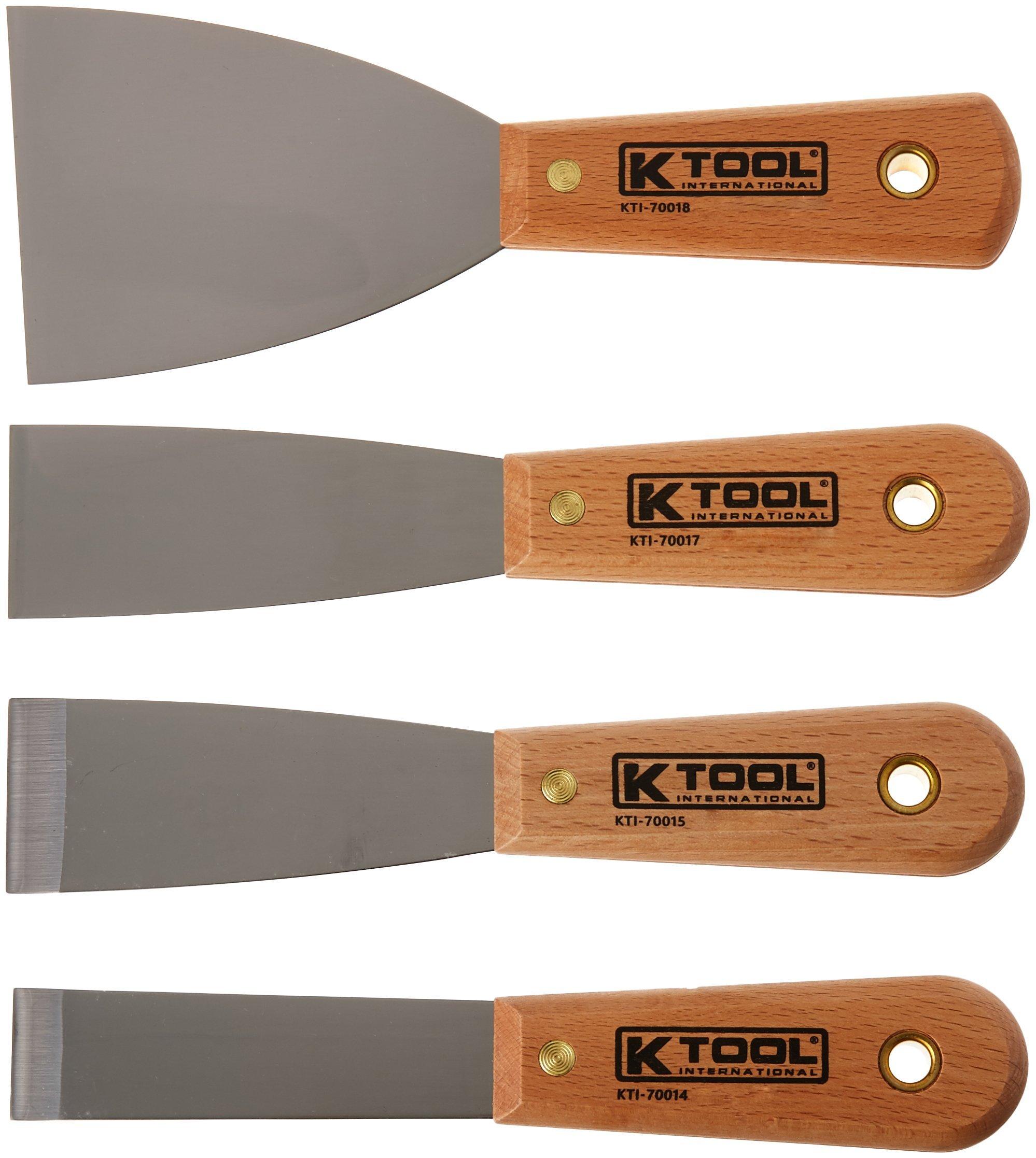 K-Tool International KTI (KTI-70004) Scraper/Putty Knife Set