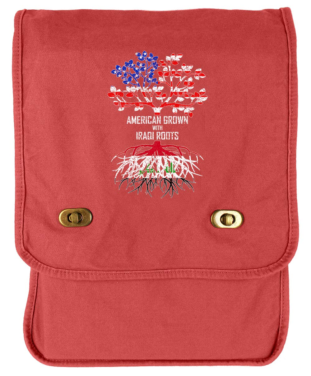 Tenacitee American Grown with Iraqi Roots Navy Brushed Canvas Messenger Bag