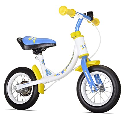 WeeRide Learn 2 Ride Balance Bike, White, 10-Inch: Sports & Outdoors