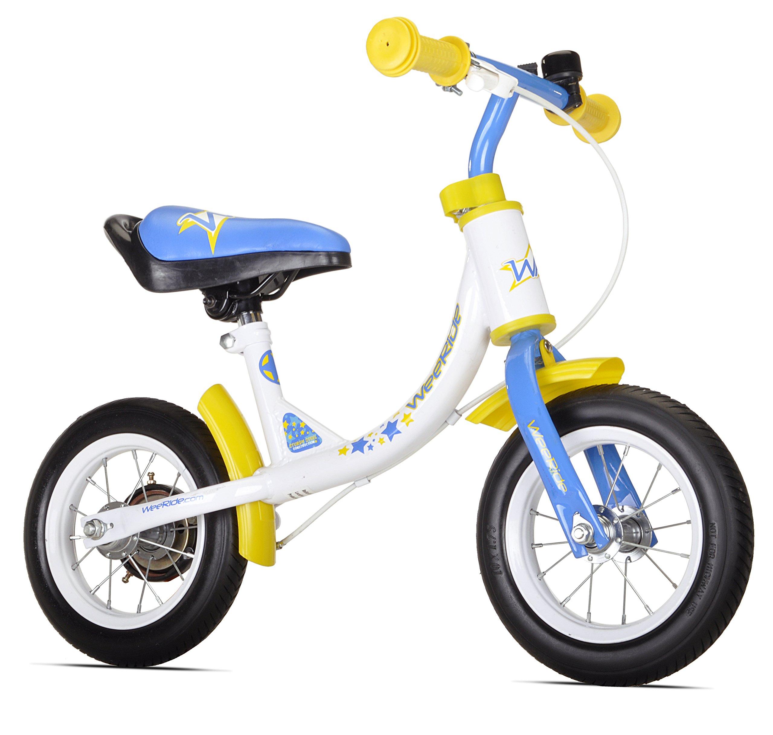 WeeRide Learn 2 Ride Balance Bike, White, 10-Inch by WeeRide