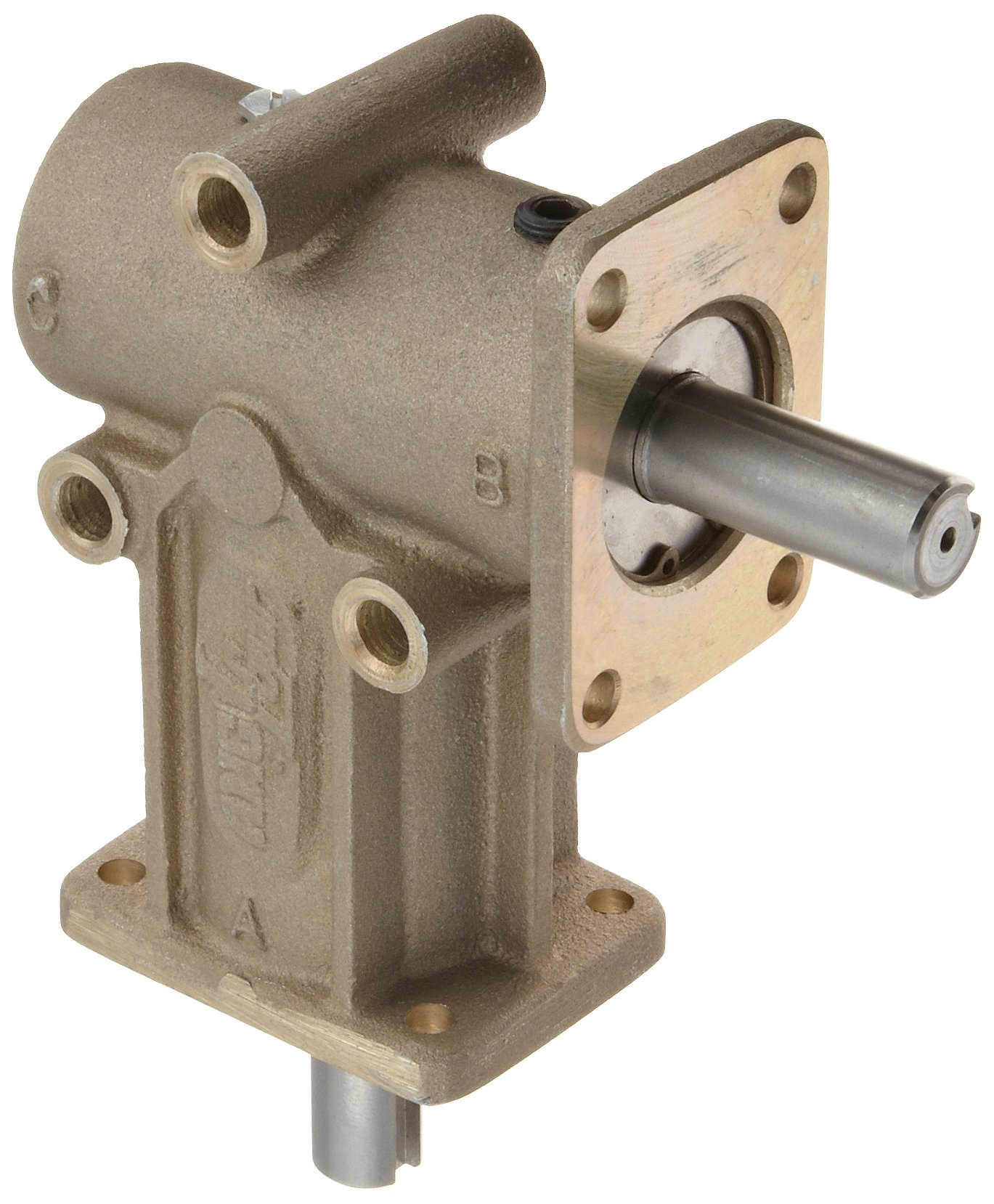 Andantex R3200M Anglgear Right Angle Bevel Gear Drive, Universal Mounting, Single Output Shaft, 2 Flanges, Metric, 15mm Shaft Diameter, 1:1 Ratio, 1.47kW at 1750rpm by Andantex