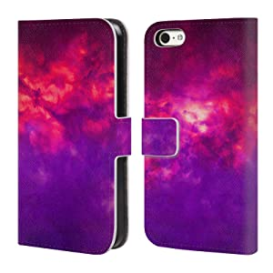 Official Caleb Troy Vapors Clouds Leather Book Wallet Case Cover For Apple iPhone 5c