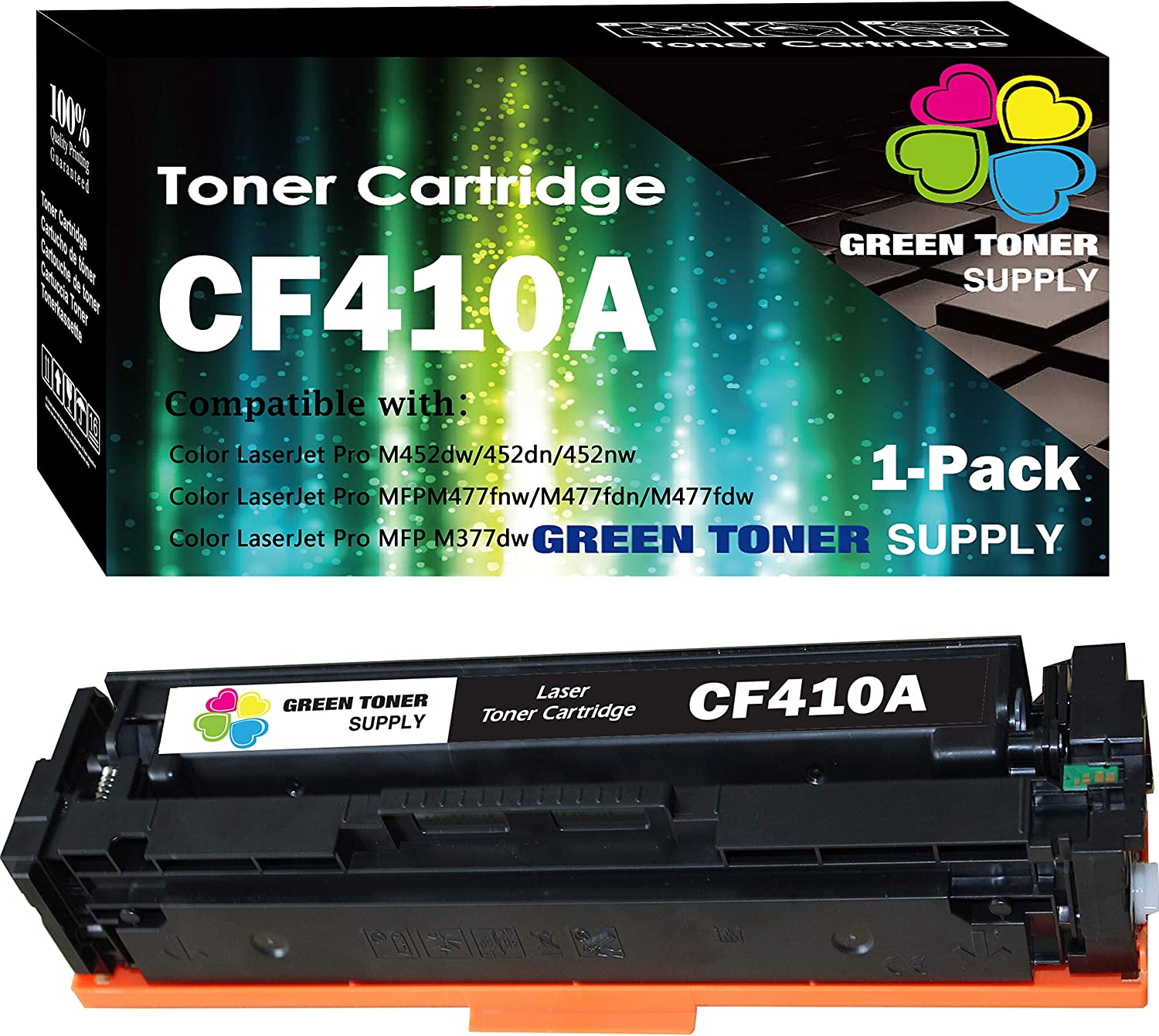 GTS Compatible Toner Cartridge Replacement for HP HP410A ( Black , 1-Pack )