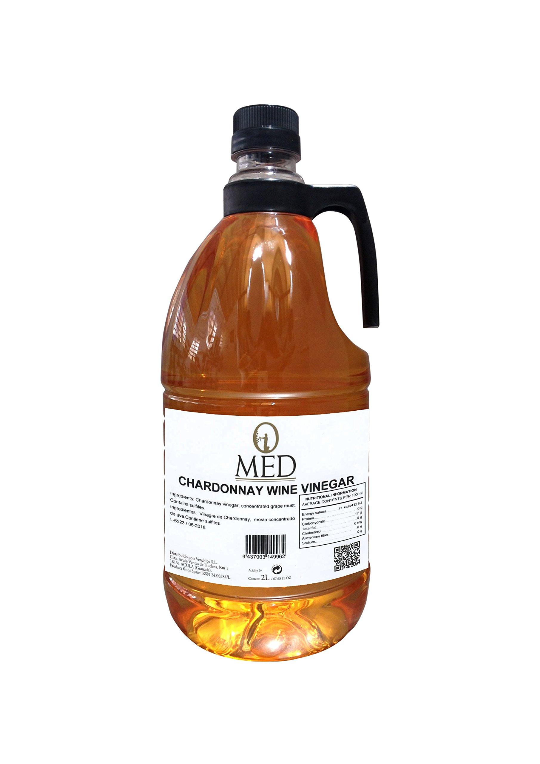 O-Med Chardonnay Vinegar - 2 LTR