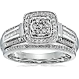 Sterling Silver Diamond Bridal Ring (1/2 cttw)
