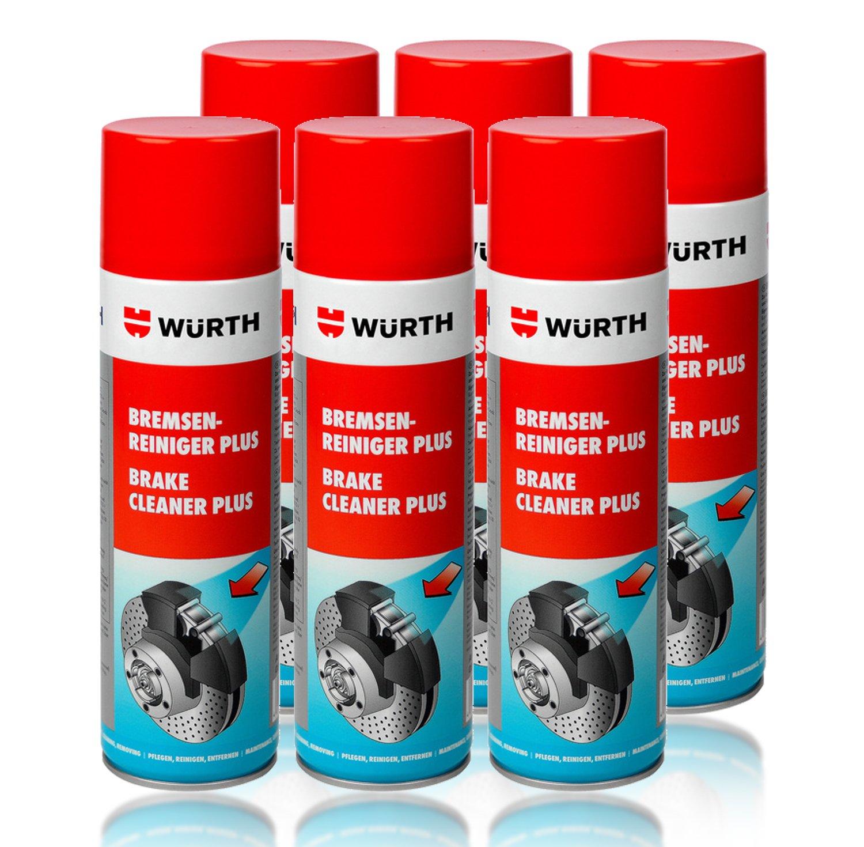 Spray nettoyant pour frein Wurth x96 (6) - Aé rosol solvant - 500 ml - 1 piè ce