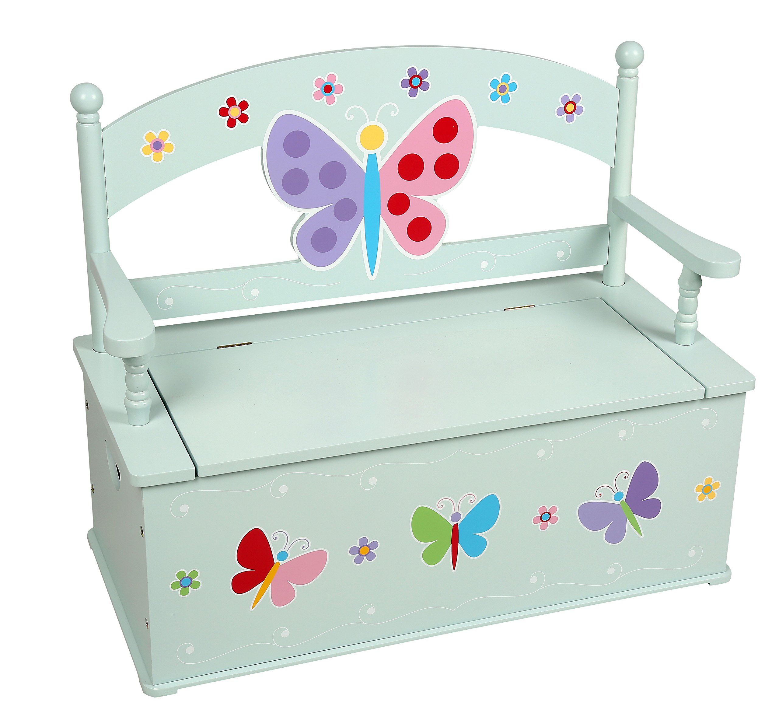 Olive Kids Butterfly Garden Toy Box Bench