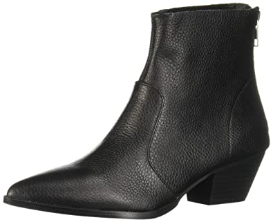 1ffb478eb25 Steve Madden Cafe Pointed Toe Rear Zip Ankle Boots, Black, 5.5 US