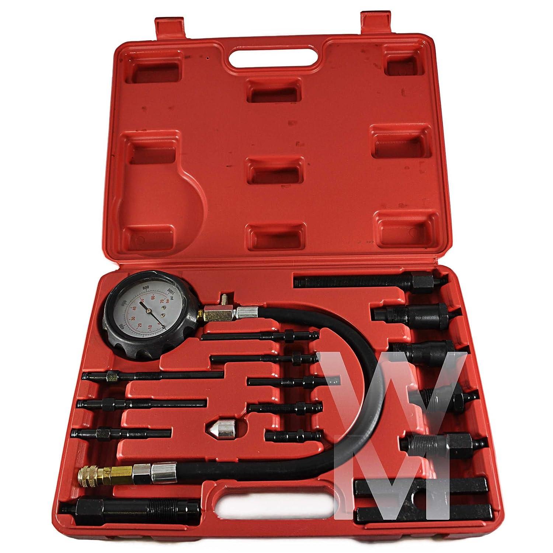 NEW DIESEL ENGINE COMPRESSION TEST KIT 17Pcs Tester Kit