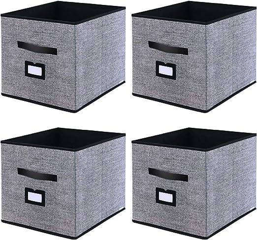homyfort Caja de Almacenaje Set de 4 Cajas de Juguetes, Caja de ...