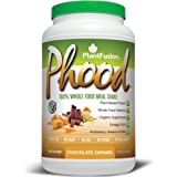 PlantFusion Phood Meal Replacement Protein Powder, Chocolate Caramel, No Soy or Rice, 20 servings, 18g Protein, 31.8oz Tub