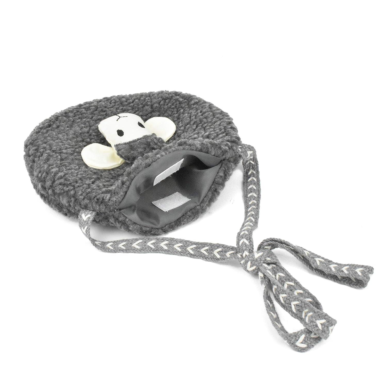 Lacheln Kids Small Crossbody Cute Cartoon Sheep Coin Purse Soft Plush Bag for Little Girls