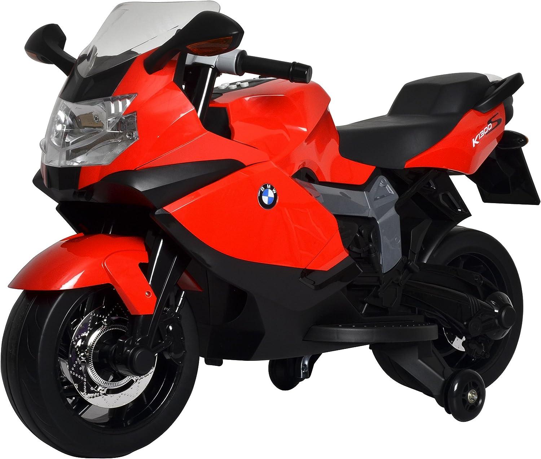 Buddy Toys- BMW K1300 Moto Eléctrica para Niños, Color Rojo y Negro (Fast CR a.s BEC 6011)