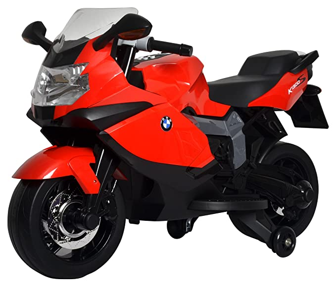 Buddy Toys- BMW K1300 Moto Eléctrica para Niños, Color Rojo y Negro (Fast CR as BEC 6011)