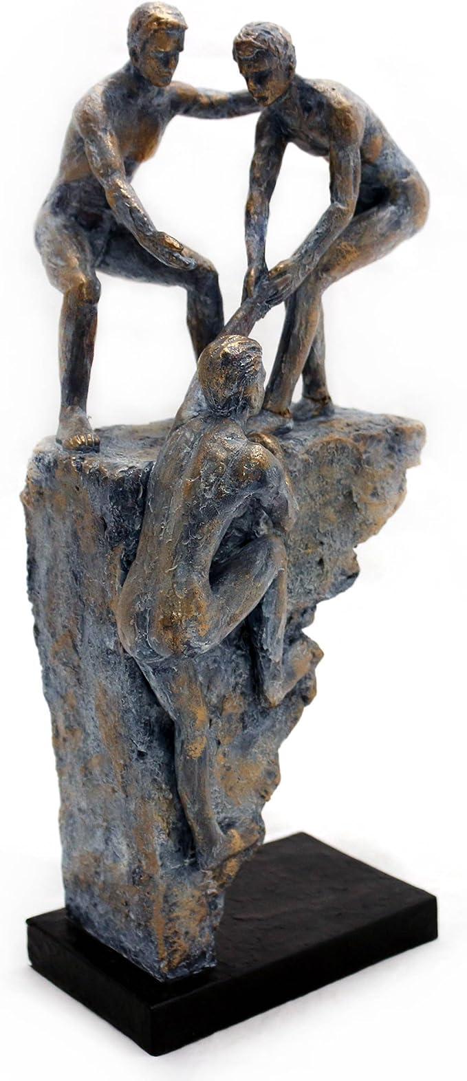 3x Winter Figuren Fenster Bank Glitzer Deko Weihnachts Geschenke Mann Statuen