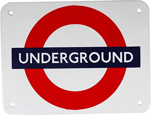 Amazon.com: Metro de Londres metal Sign, 5