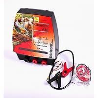 HORIZONT  10613 Elektrozaungerät -hotSHOCK A50- Akkugerät mit 3 Anschlüssen UV-geschützt, farblos
