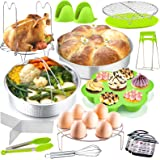 P&P CHEF 17-Pieces Pressure Cooker Pot Accessories Set, Instant Steamer Accessories Kit for Cooking, Steaming & Serving, Stea
