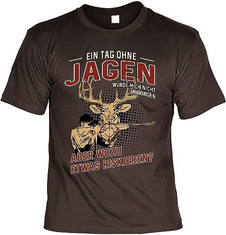 Revier-Aufsicht J/äger T-Shirt f/ür M/änner Herren Shirts braun originelle Jagd Geschenke f/ür Meisterj/äger Bedruckt