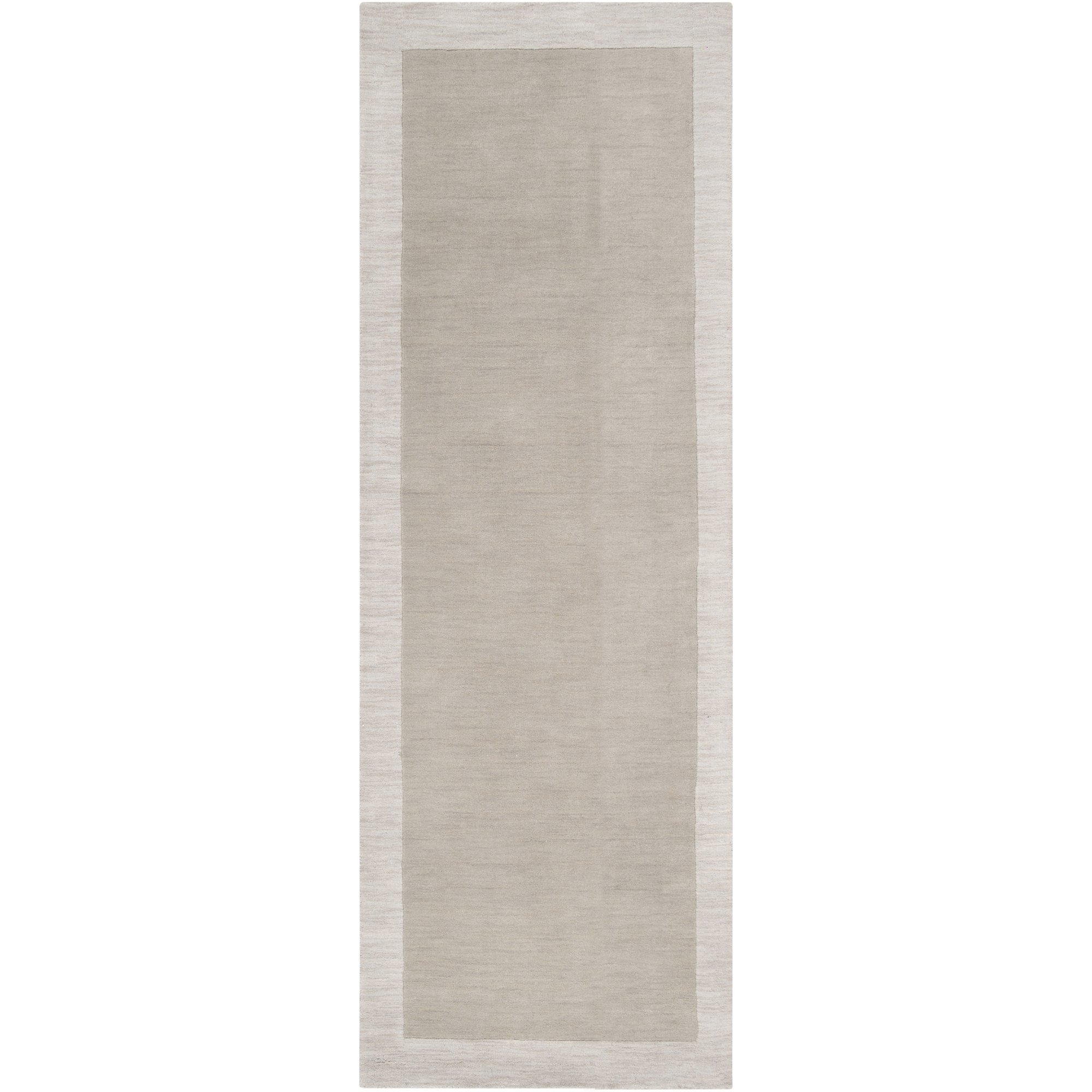 angelo:HOME by Surya Madison Square MDS-1001 Transitional Hand Loomed 100% Wool Oatmeal 2'6'' x 8' Runner