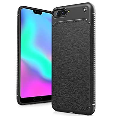 half off 41d4c 70b6a Honor 10 Case, Ultra Slim Flexible TPU Shock Absorption and Litchi Skin  Bumper Protective Cover Case for Huawei Honor 10 5.84