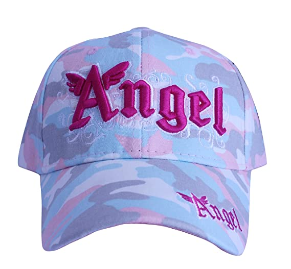 Robs Tees Angel Camouflage Kids Children Baseball Hat Ball Caps Girls Cotton Toddlers Caps