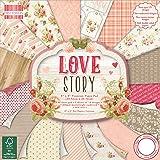 "Trimcraft Fogli di carta decorativa, qualità premium, tema""love story"", prima edizione, 30x 30cm"