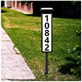 House Numbers Address Plaques for House Driveway Marker Street Sign Lighted Modern House Numbers Solar Address Light Sign Led