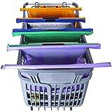 KIT DE 4 BOLSAS PARA SUPERMERCADO REUTILIZABLES (En colores anaranjado, morado, azul (con aislamiento térmico y anti-escurrim
